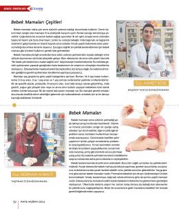 Bebek Mamaları - Eczanem Dergisi
