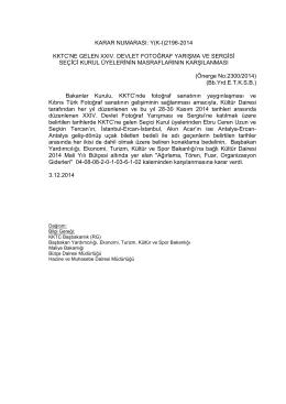 03.12.2014 - KKTC Başbakanlığı