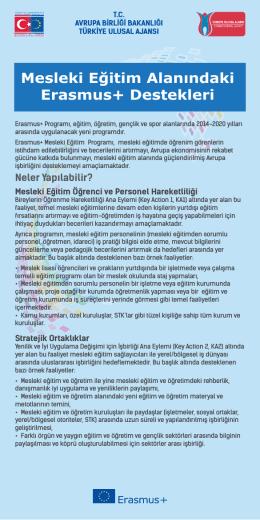 Mesleki Eğitim Alanındaki Erasmus+ Destekleri