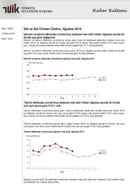 tüik 2014 süt ve süt ürünleri üretim istatistikleri