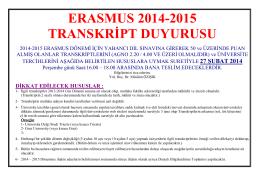 Erasmus_2014_2015_Transkript_Teslimi_Duyurusu