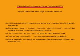 BM325 Bilimsel Arastırma ve Yazma Teknikleri-¨ODEV