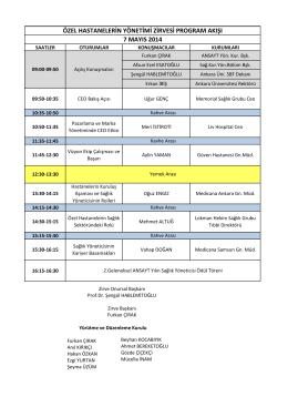 7 Mayıs Program - Ankara Üniversitesi
