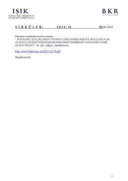 S İ R  K  Ü L  E  R : 2 0 1 4 / 31 03.06.2014