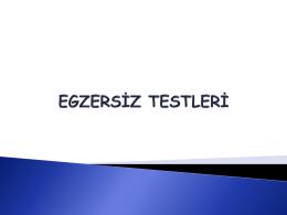 EGZERSİZ TESTLERİ
