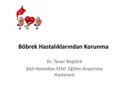 Doç. Dr. Taner BAŞTÜRK – Şişli Hamidiye Etfal EAH