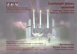 Cumhuriyet Balosu Jahresball - Türkischer Frauenverein Schweiz