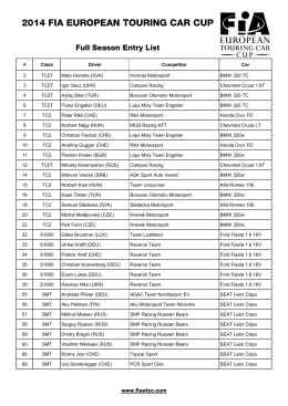 2014_ETCC_Entry list_full season