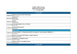 TKBB ve BBC Derneği Rinoloji Okul Programı 11 – 13 Aralık 2014