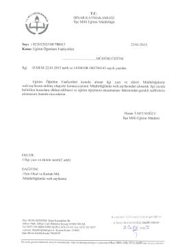 T.C. - Dinar İlçe Milli Eğitim Müdürlüğü