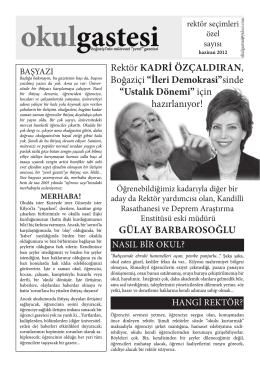 OkulGastesi Rektörlük Seçimleri Sayısı – Bahar