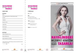 HAYALİNDEKİ TASARLA! - İzmir Ekonomi Üniversitesi