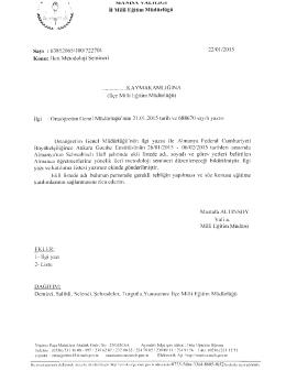 İı Milli Eğitim Müdürlüğü - Selendi İlçe Milli Eğitim Müdürlüğü