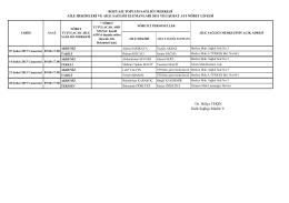 Bozyazı İlçesi - Mersin Sağlık Müdürlüğü