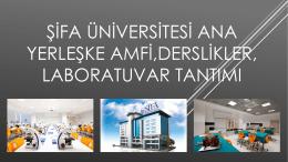 Şifa üniversitesi amfi,derslikler, laboratuvar tanıtımı