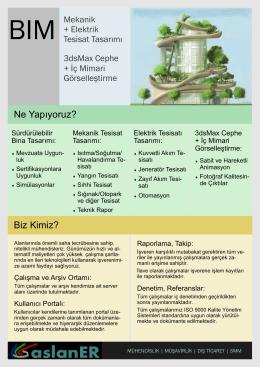 bim 102 A4 - Aslaner Mühendislik | Müşavirlik | Dış Ticaret