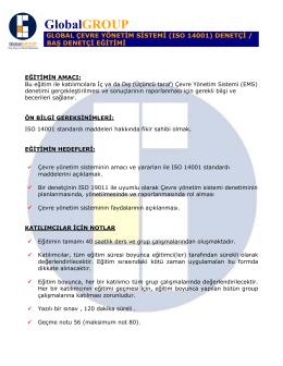 GlobalGROUP Onaylı ISO 14001 Baş Denetçi