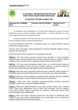 Talimatlar - İstanbul Üniversitesi | İdari ve Mali İşler Daire Başkanlığı