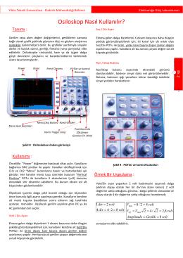 Osiloskop Kullanimi - yarbis - Yıldız Teknik Üniversitesi