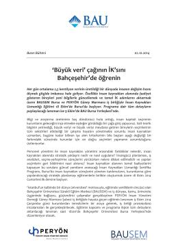 Büyük veri - BAUSEM - Bahçeşehir Üniversitesi