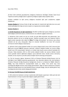 SPK Kurumsal Yönetim Tebliği 1.3.5. Çerçevesinde