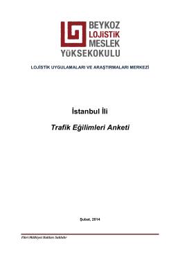 Trafik Eğilimleri Raporu - Beykoz Lojistik Meslek Yüksekokulu