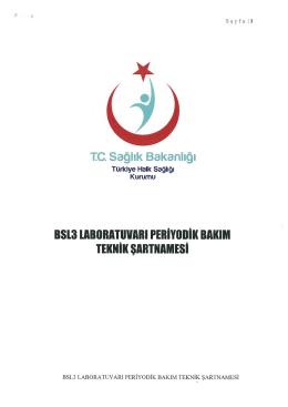 TC. Sağlık Bakanlığı BSI3IABORATUVARIPERİYOBİK BAKIM