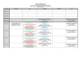 2014-2015 Güz Yarıyılı SBE Ortak Yüksek Lisans Dersler Programı