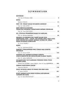 Sayfa 7 ve 8 – İçindekiler