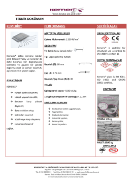 TECHNİCAL DATA SHEET