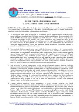 TMMOB TEKSTİL MÜHENDİSLERİ ODASI 12. OLAĞAN