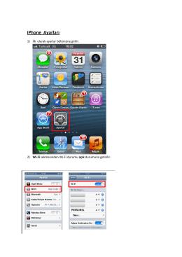 iPhone Ayarları