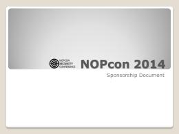 NOPcon 2012