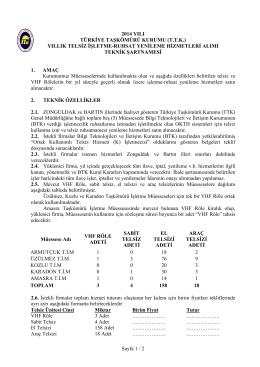Teknik Şartname Telsiz - Türkiye Taşkömürü Kurumu