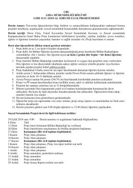 CBU GIDA MÜHENDİSLİĞİ BÖLÜMÜ GMD 3113