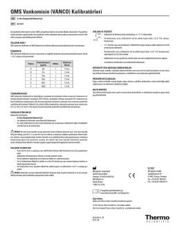 QMS Vankomisin (VANCO) Kalibratörleri