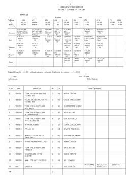 2. sınıf b şubesi - Giresun Üniversitesi Devlet Konservatuvarı