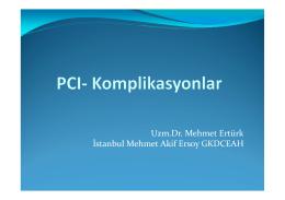 Uzm.Dr. Mehmet Ertürk İstanbul Mehmet Akif Ersoy GKDCEAH