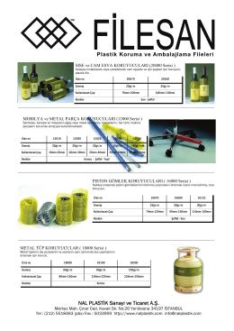 Plastik Koruma ve Ambalajlama Fileleri NAL PLASTİK Sanayi ve