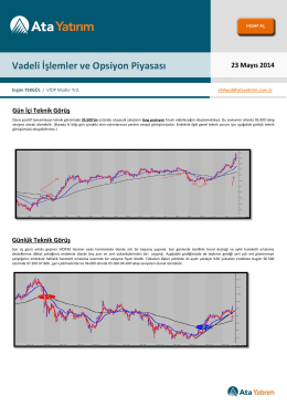 23 Mayıs 2014 Vadeli İşlemler ve Opsiyon Piyasası