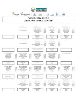 conkbayırı koleji ekim 2014 yemek menüsü