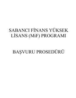 Başvuru Adımları - Sabancı Üniversitesi
