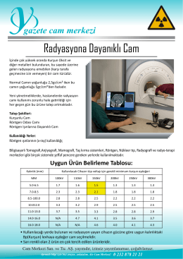 Radyasyona Dayanıklı Cam