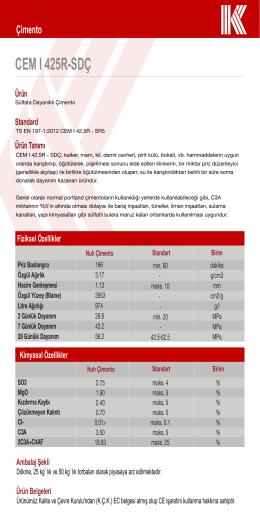 CEM I 425R-SDÇ