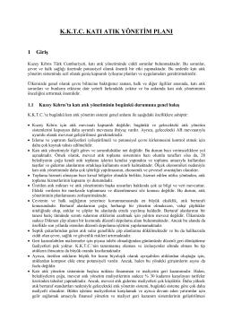 kktc katı atık yönetim planı
