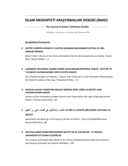 islam medeniyeti araştırmaları dergisi (imad)