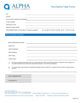 IB Para Çekme Talep Formu