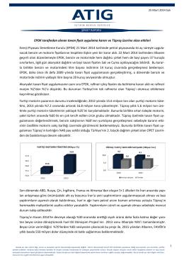 Enerji Piyasası Denetleme Kurulu (EPDK) 21 Mart 2014 tarihinde