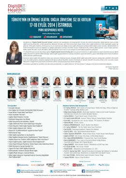 17-18 EYLÜL 2014   Istanbul - Digital Health Summit Turkey