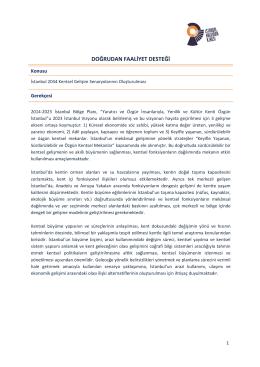 İstanbul 2034 Kentsel Gelişim Senaryolarının Oluşturulması